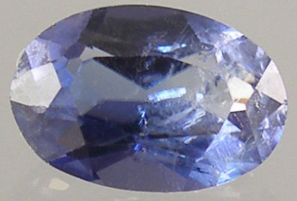 Benitoite Faceted