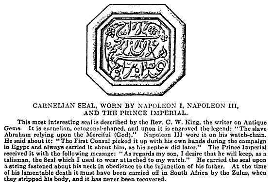 Carnelian Seal of Napoleon