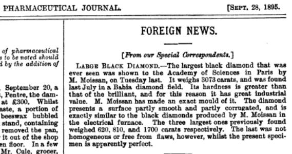 Largest Black Diamond